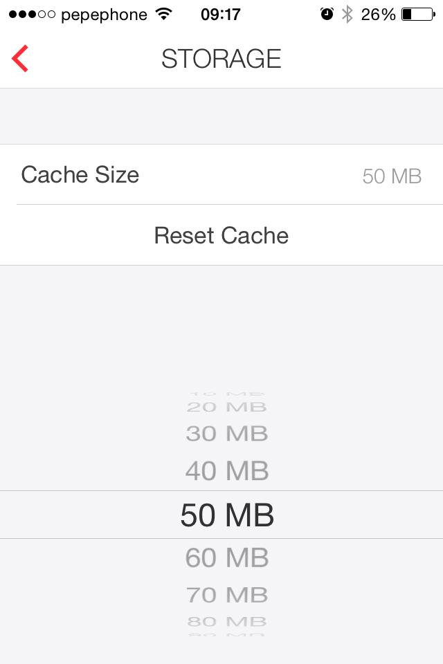 myMail - cache