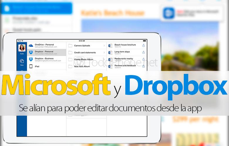 dropbox-microsoft-permitiran-editar-documentos-app